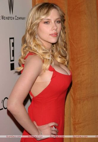dress scarlett johansson red dress