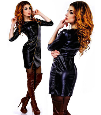 dress zefinka leather girly outfit outfit idea fall outfits