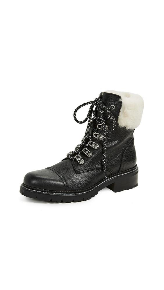Frye Samantha Hiker Boots in black