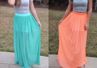 skirt blue skirt orange skirt long skirt