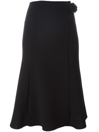 skirt high women black wool