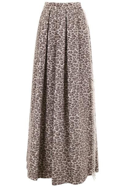 Max Mara Taro Skirt With Leopard Print
