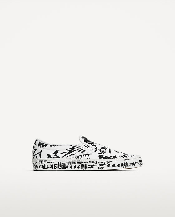 zara graffiti sneakers outlet 4f7a8 b758f