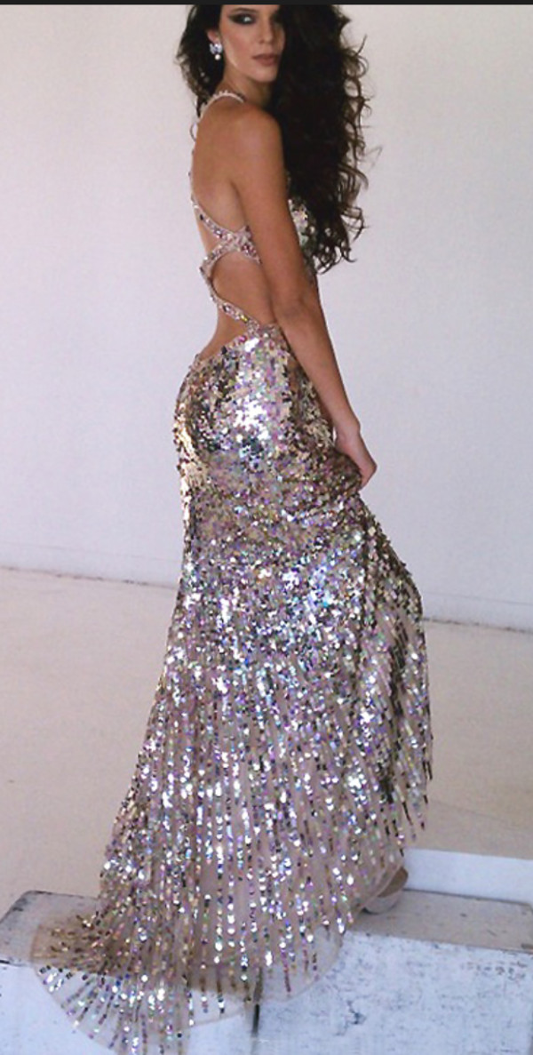 Dress Prom Dress Dress Sparkly Dress Gold Gold