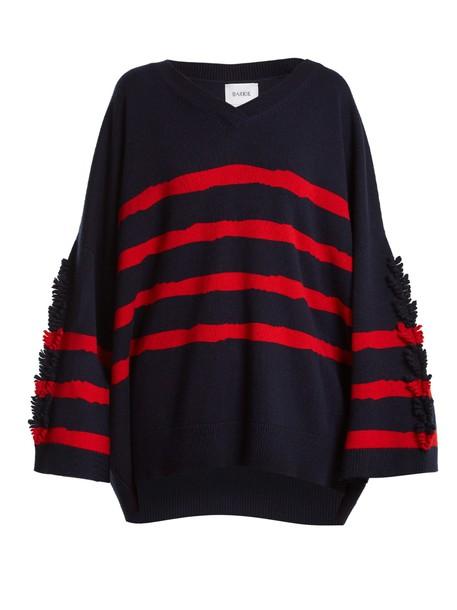 Barrie sweater oversized fancy navy