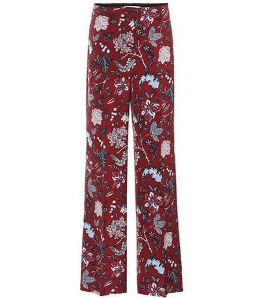 Diane Von Furstenberg high silk red pants