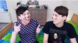 shirt amazingphil danisnotonfire youtuber youtube instagram twitter cute tumblr