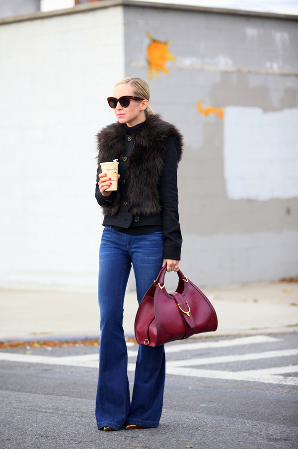 brooklyn blonde jeans jacket bag sunglasses