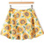 Yellow High Waist Sunflower Print Flare Skirt - Sheinside.com
