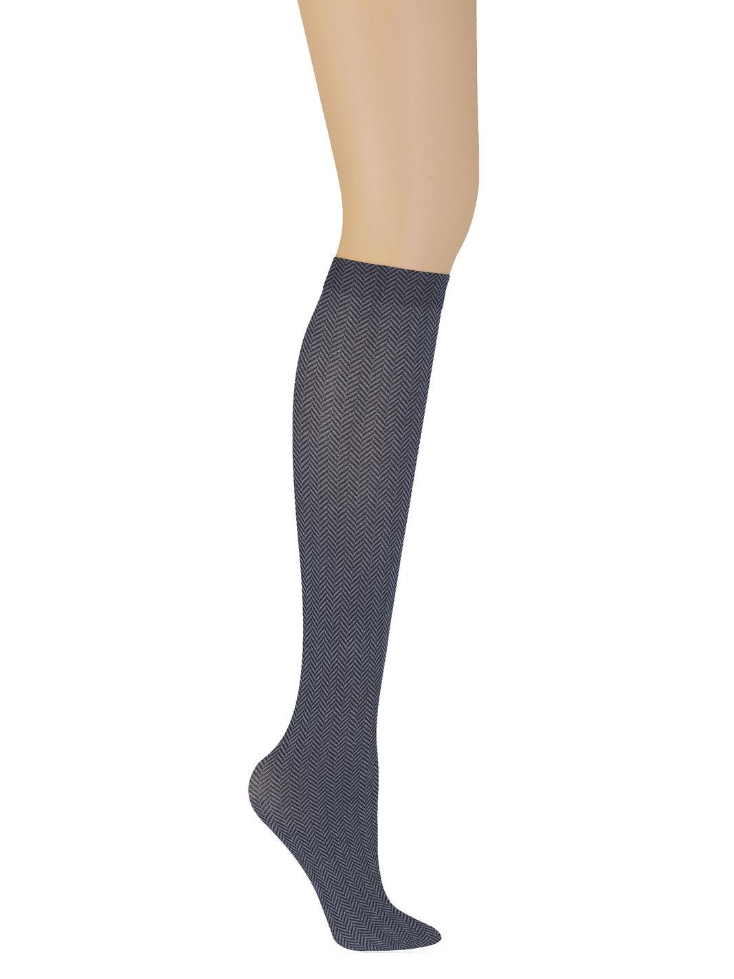 Tweed Herringbone Knee Sock - DKNY