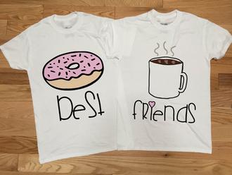 shirt bff tee graphic tee graphics t-shirt food