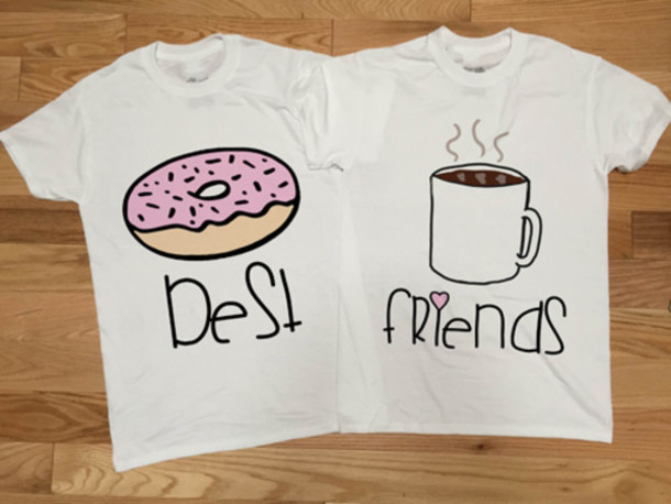 factory outlet outlet boutique discount shop Coffee Friends BFF T Shirt