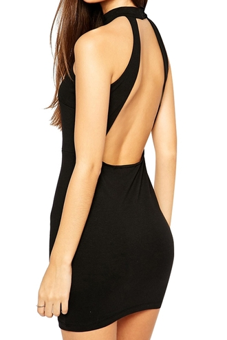 dress round round neck top black black dress mini dress black mini dress little black dress cute dress sleeveless sleeveless dress bodycon bodycon dress cut-out cut-out dress backless backless dress sexy sexy dress gorgeous gorgeous dress clubwear casual summer summer dress summer outfits zaful