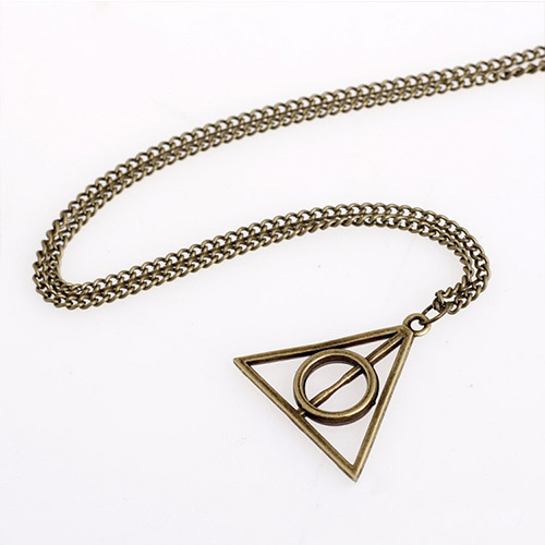 [grxjy5100343]retro triangle pendant alloy necklace