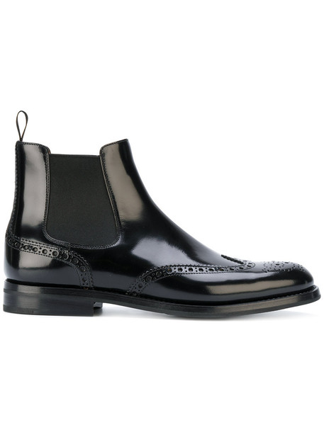 Church's women ankle boots leather black shoes