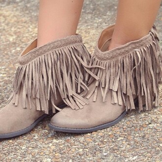 shoes amazing lace braided braided detail detail fringes taupe bootie ankle boots fall outfits boho bohemian