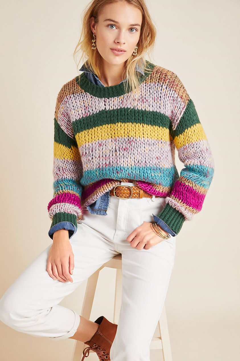 Dawson Striped Sweater by Heartloom in Assorted