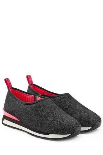 metallic sneakers black shoes