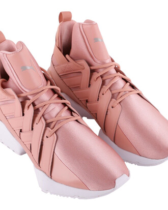 satin pink shoes
