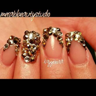 nail accessories gold nails