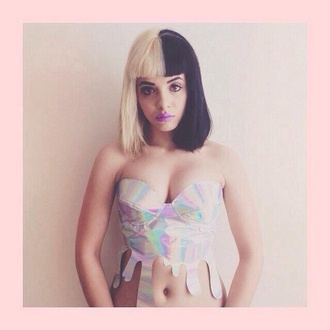 top acid wash crop tops holographic hairstyles