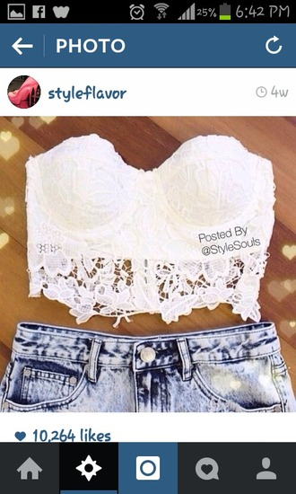 top lace top white lace top