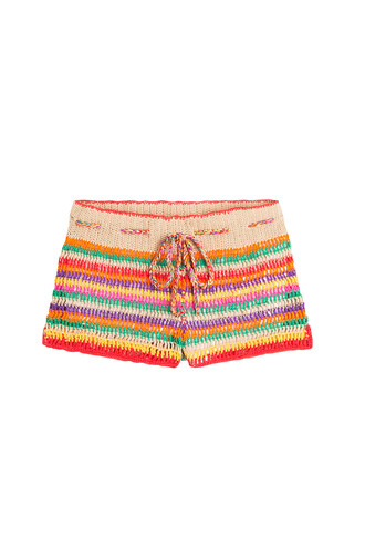 shorts crochet shorts crochet multicolor