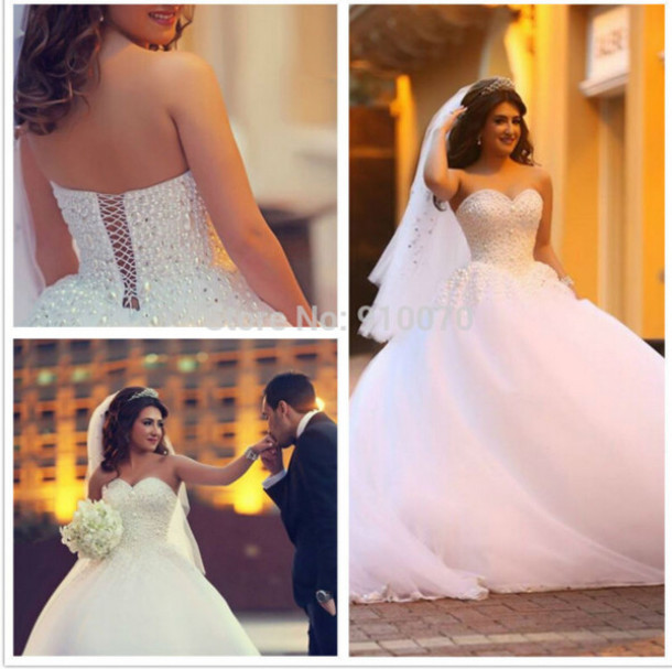 dress wedding dress bridal gown crystals wedding dress elegant wedding dress