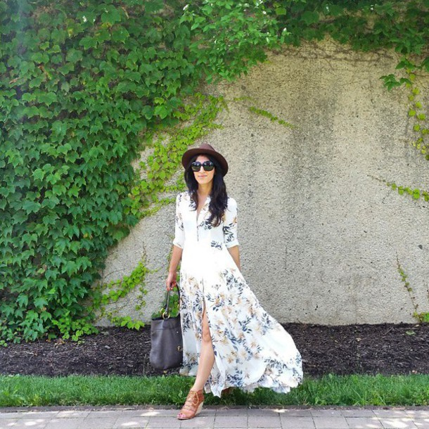 ec3303638cf2 dress free people floral white maxi dress side slit v neck long sleeves  revolve clothing revolveme