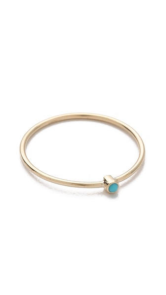 Jennifer Meyer Jewelry Thin Ring with Turquoise | SHOPBOP
