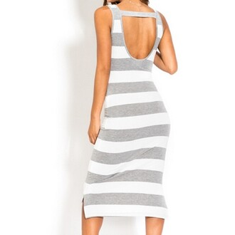 dress shop grey strip