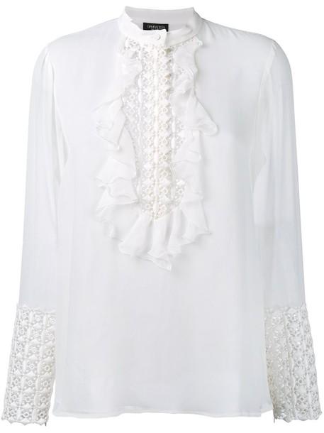 GIAMBATTISTA VALLI blouse embroidered white top