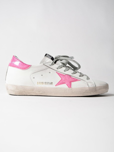Golden goose sneakers. glitter sneakers magenta white shoes