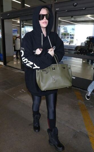 sweater hoodie leggings khloe kardashian kardashians sunglasses