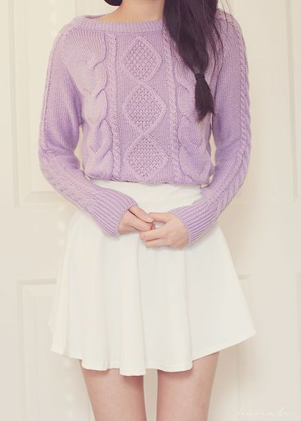 sweater pastel purple kawaii sweaer comfy cute