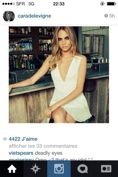 cara delevingne dress white dress