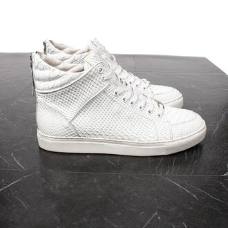shoes maniere de voir python white sneakers virtue trainers snake