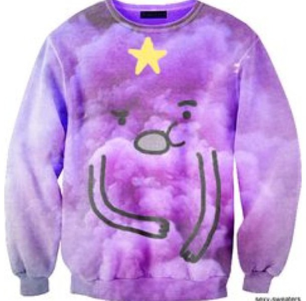 top adventure time sweater lumpy space princess sweater