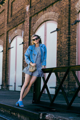 bag zanita blogger mini dress denim jacket