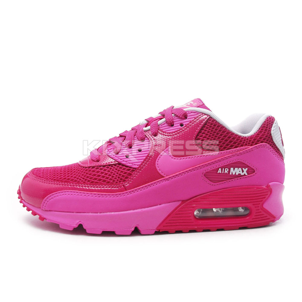 Nike WMNS Air Max 90 [325213-609] NSW Running Raspberry Red/Club Pink-Fuchsia | eBay