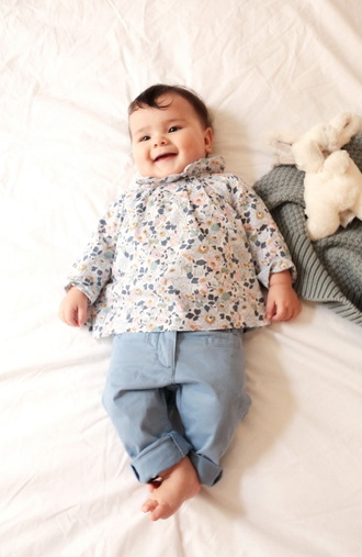 the cherry blossom girl blogger baby clothing printed blouse