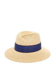 hat,straw hat,blue