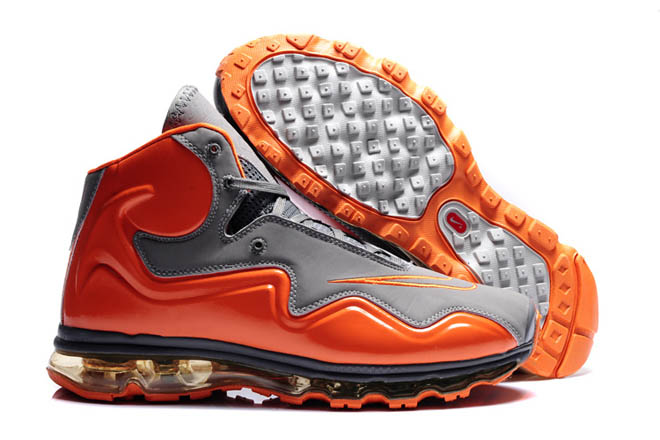 Air Flyposite Men Shoes Cool Grey and Total Orange -  $108.98