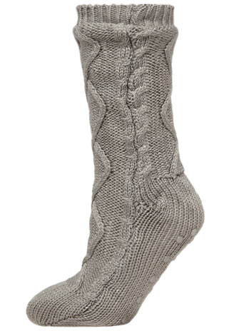 Grey sparkle yarn cosy sock - Dorothy Perkins