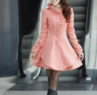 jacket pink jacket classy trench coat