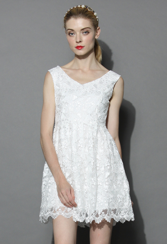 dress fair butterfly embroidered tulle dress in white chicwish white dress tulle dress floral dress party dress chicwish.com