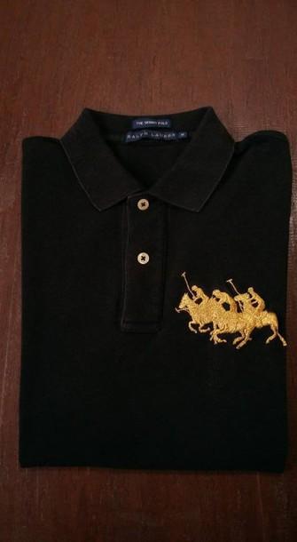 T Shirt Ralph Lauren Ralph Lauren Polo Polo Ralph Lauren Homme Polo Shirt Black Horse Luxury Outfit Paris Wheretoget