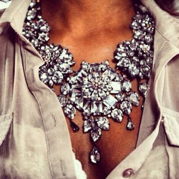 jewels crystal neckpiece rhinestone neckpiece crystal quartz wedding  accessories statement necklace chunky crystal necklace wedding necklace 2e42822931d6