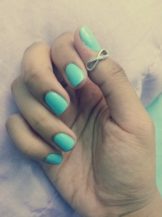 jewels ring promise ring infinity tiffany light blue diamonds cute nail polish