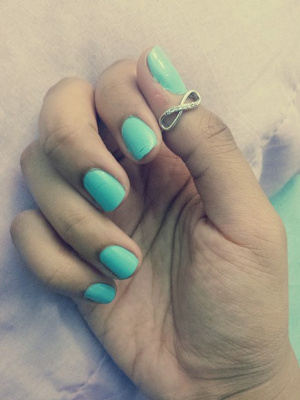 jewels light blue tiffany ring promise ring infinity diamonds cute nail polish
